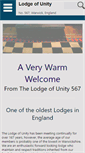 Mobile Preview of lodgeofunity.org.uk