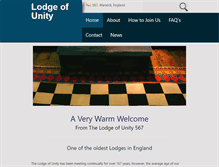 Tablet Preview of lodgeofunity.org.uk